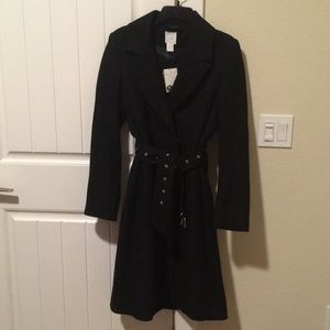 NWT H&M Double Breasted Wool Blend Coat with belt